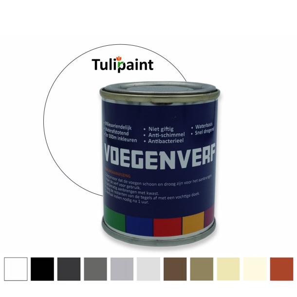 Fugefarve 125ml 11 farver + Penselsæt (inkl. moms + Fri fragt)